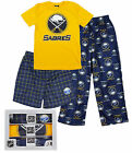 NHL Hockey Youth Buffalo Sabres 3-piece Boxed Pajama Set - Blue