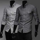 Free Ship Luxury Men's Male Slim Fit Dress Shirts Casual shirts Tops IN 2 Colors