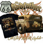 Rodfather Hot Rod T-Shirt Rat Rockabilly Vintage Old Skool Skull S-XL Route 66