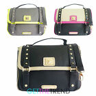 Womens Anna Smith LYDC Studded Satchel Briefcase Overbody Bag Shoulder A7252