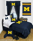 Michigan Wolverines Comforter & Sham Set LR Twin Full Queen
