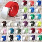 33 Colors New Men's Casual Black/Silvery Metal Buckle Canvas Waist Belt Gifts