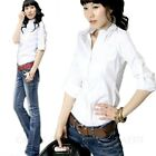 Womens Summer Business Ladies Work Top Smart Blouse Collar Shirt Size 12 10 8 6