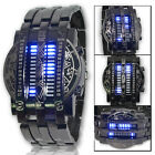 ZODIAC New Arrived Blue Light LED Stainless Steel Fashion Cool Men Wrist Watch