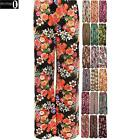 New Plus Size Womens Floral Print Ladies Wide Leg Palazzo Trousers Pants 8-14