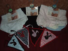 3  pairs of lovely cotton plain briefs/knickers or thongs with bunny motifs