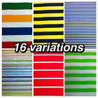 16 variations of striped dress/craft poly cotton fabric. £2.60 per metre