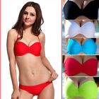 2Pcs Women's Bikini Push-up Padded Bra Beach Swimsuit Top Bottom Swimwear Set