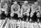 1915 BILL CARRIGAN BOSTON RED SOX PLAYERS DUG-OUT PHOTO