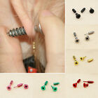 1 Pair of Cool Womens Stud Earrings BA2A Mens Fine Stainless Steel Whole Screw