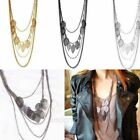 New Design Hot Stray Leaves Multilayer Bohemia Style Sweater Necklace Chain