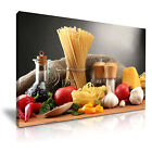 PASTA Ingredients Canvas Framed Printed Wall Art - More Size