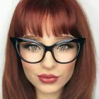 Vintage Nikita Cat Eye Oversized Large Clear Lenses Women Eyeglasses Sharp Edges