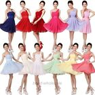 Latest Women's Sexy Evening Party Prom Ball Wedding Dress Short Bridesmaid Dress