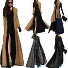 Womens Zip Wool Parka Full Length Trench Coat Long Jacket Vintage Coats sz 8-18