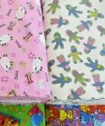 NEW NOVELTY FLANNEL 100% cotton fabric sports cat dog frog sheep sock monkey 1yd