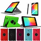 360 Rotating Leather Smart Case Cover/Film/Stylus for LG G Pad 7.0 7-inch Tablet