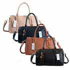 Ladies Womens Designer Boutique Style Quilted Faux Leather Shoulder Handbag Bag