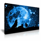 ANIMAL Wolf 2 Canvas Framed Print Wall Art - More Size