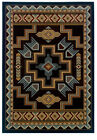 "Southwestern Smoke Blue Border Carpet 8x11 Navajo Area Rug : Actual 7'10""x10'6"""