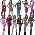 Sexy Animal Adult Printed Skin Jumpsuit Ladies Fancy Dress Costume Body Stocking