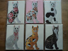 WEMYSS WARE CATS BLANK GREETING CARDS BNIP 6 DIFFERENT DESIGNS TO CHOOSE FROM