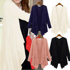 PLUS SIZE Womens Waterfall Long Sleeve Top Open Jumper Cardigan Knitwear Coat