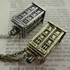 Doctor Who TARDIS Police Box Pendant Necklace Sweater Chain Bronze/Silver 2014