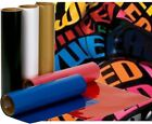 """Iron On Vinyl Transfer 12""""x15"""" Sheet - 25 + Colors For Any Color Materials"""