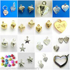Silver Gold Plated Charms Heart Star Jingle Bell Choose Designs