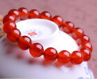 Fine A Grade 6-18mm Natural Red Agate Healthy Bracelet with Gem Certificates