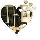 Acrylic Mirrors Heart and Small Hearts Wall Mount Childrens Bedroom Display