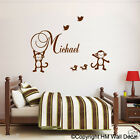 MONKEYS, BIRS & FREE Personalised Name Removable wall sticker for KIDS /NURSERY