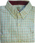 VTG STYLE NEXT MENS BRUSHED COTTON CHECKED SHIRT CREAM RED BLUE COUNTRY GENT