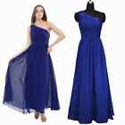 One Shoulder Chiffon Evening Formal Party Ball Gown Prom Bridesmaid Long Dresses