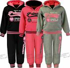 Girls Jogging Suits Tracksuits Joggers & Hoodie Top Kids Clothes Ages 3-14 Years