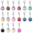 Chic Faux Pearl Pendant Clip-On Dangle for Living Lockets Floating Charm