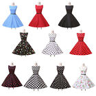 CHEAP Vintage 1950s Rockabilly Swing Prom Party Cocktail Evening Dress FREE BELT