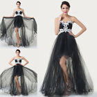 HOT Tulle Asymmetric High-Low Dresses Bridesmaid Prom Party Evening Formal Dress