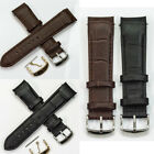 CURVED ENDS leather watch strap crocodile grain silver & gold buckle curve end