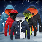 New Men's Winter Warm Coat Cotton Padded Jacket Hoodie Parka Outwear Overcoat