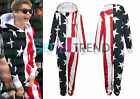 Womens Mens Unisex American Flag Stars and Stripes All In One USA Jumpsuit