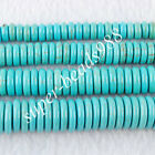 Howlite Turquoise Gemstone Round Rondelle Spacer Loose Beads 8 10 12 14mm SBG115