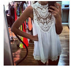 Mignon Fashion Sexy Robe pour fille Women Lace Sleeveless Summer Ladies Dress