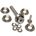 M8, A4 MARINE GRADE SOLID STAINLESS STEEL TURNED FULL BODY SCREW CUP WASHERS