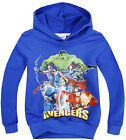New Kids Boys Girls The Avengers Iron Man/Captain America Hero Hoodies 2-8Years