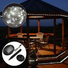 Flipo Solar-Powered LED Rope Lights 100 Bright LEDs 32' Outdoor Indoor Garden