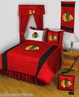 Chicago Blackhawks Red Comforter with Sheet Set Twin to King
