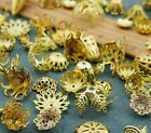Assorted Mix Brass Bead Caps Stamping Filigree Finding Sets 4mm-12mm/8mm-18mm