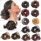 Synthetic Black Brown Blond Pony Tail Extension Wig Hairpiece Hair Bun Scrunchie